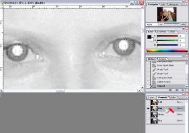 """Как убрать """"красные глаза"""" на фотографии?"""